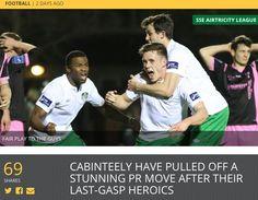 Cabinteely in the news! Pull Off, News Articles, Football, Goals, Club, Baseball Cards, Soccer, Futbol, American Football