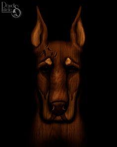 David Piñeles Ilustraciones: Doberman #DavidPiñelesIlustraciones #Dibujo #Draw #Ilustracion #Illustration #Digital #Painting #Pintura #Concept #Art #Character #Design #Perro #Dog #Doberman #Madera #Wood