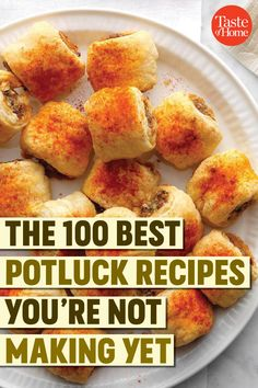 The 100 Best Potluck Recipes You're Not Making Yet Crockpot Potluck, Best Potluck Dishes, Church Potluck Recipes, Easy Potluck Recipes, Work Potluck, Potluck Dinner, Appetizer Recipes, Crockpot Recipes, Easy Meals