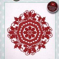 Dies To Craft For Festive Collection - Holly Octagonal Frame- by Sue Wilson
