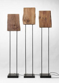 Floor-standing lamp / original design / wood OLD TIMES 2 by Maurizio Peregalli ZEUS
