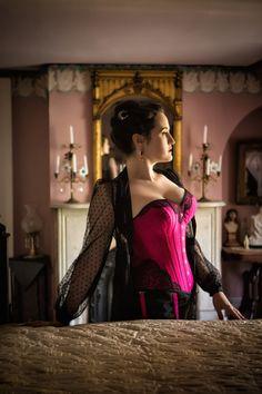 Sweet Nothings Holiday Women of Mystery- Irene Adler. Photo: Steven Rosen Photography - This corset is FABULOUS! Sweet Nothings, Mystery, Glamour, Lingerie, Actresses, Formal Dresses, Lady, Model, Irene Adler