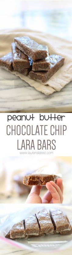 {Homemade} Peanut Butter Chocolate Chip Lara Bars