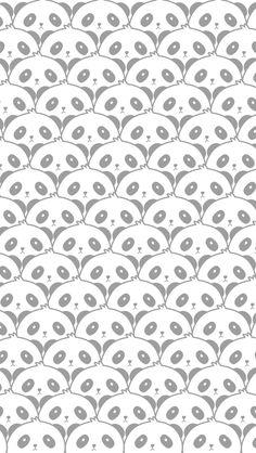 gray panda pattern