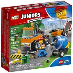 Lego Juniors 10750 Straßenbau-laster - New Sealed Lego 4, Lego Duplo, Van Lego, Lego City, Bergen, Toy Trucks, Monster Trucks, Lego Juniors, Cabins