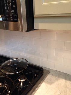Subway tile back splash