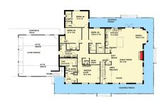 wrap around porch. Take off 4th BR & bath. shared bath for 2&3. No upstairs room. No fireplace