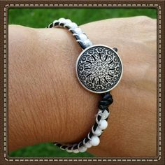 Single Wrap Bracelet - Black & White