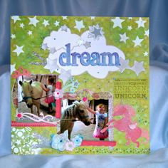 CTMH Mixed Media Scrapbook Layout from ScrappyHorses.  CTMH from ScrappyHorses.ctmh.com