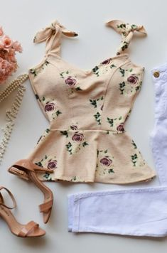 Summer Outfits, Girl Outfits, Casual Outfits, Cute Outfits, Peplum, Korean Dress, Pin Up Style, Hippie Chic, Casual Looks