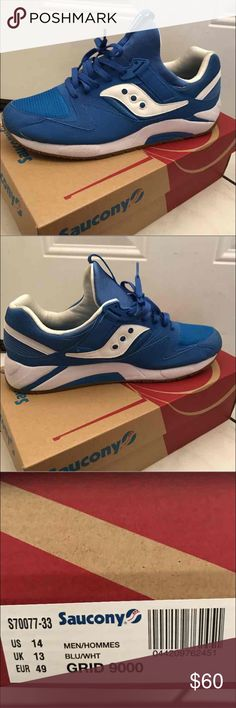 Saucony Grid 9000 Blue/White 8/10 Need these gone ASAP only wore them a fee times and dont really need them anymore Saucony Shoes Sneakers