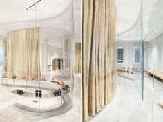 Interior designed by SANAA for the new store for fashion designer Derek Lam in New York.