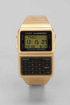 Casio Classic Gold Databank Watch- Gold One