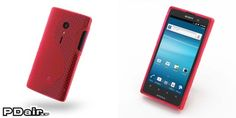 PDair Soft Plastic Case for Sony Xperia Ion LT28i (Red/S Shape pattern)