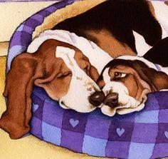 He encontrado este interesante anuncio de Etsy en https://www.etsy.com/es/listing/73725459/basset-hound-joy-limited-edition-art