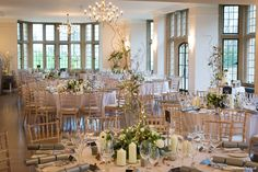 The Wilde Bunch at Coombe Lodge.Looking down the room at one of our Christmas 2017 winter designs. Visit the Coombe Lodge page on our website to see loads of designs and ideas for the venue. Lodge Wedding, Wedding Venues, Reception Decorations, Table Decorations, Lodge Look, Table Plans, Christmas 2017, Wedding Season, In The Heights