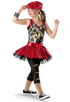 """Cooler Than Me"" - Funky Metallic Print Dance Dress; Hip Hop Outfits, Dance Outfits, Dance Dresses, Cute Dance Costumes, Hip Hop Costumes, Ugly Dance, Dance Recital, Figure Skating Dresses, Dance Poses"
