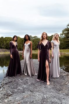 Sophisticated bridesmaid dresses with a modern twist? Jenny Yoo has got em! Her 2020 bridesmaid collection features youthful silhouettes with color, whimsy and luxe textures we cannot get enough of, so we just had to share them with the world! Get a first look at the trendy bridesmaid styles that will soon be rocking the world on #ruffledblog