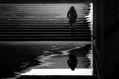 Taking Some Alone Time in the Stunning Symmetrical City - My Modern Metropolis German artist Kai Ziehl Photography Themes, Reflection Photography, Urban Photography, Street Photography, Kai, Robert Doisneau, Modern Metropolis, Best Photographers, Shades Of Black