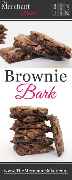 Brownie Bark! Crispy, chewy, fudgy and amazing thin brownie. Not like any other brownie you've ever had! And super easy to make!