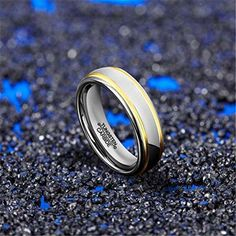 6mm Tungsten Carbide Ring Simple Style Gold Plated Unisex Wedding Engagement Band (Platinum 14k, 18k and 24k Yellow Gold). As a heavy metal, tungsten carbide is a very hard and dense with hardness between 8.5 and 9.5 on the hardness scale (Diamonds come to a 10). Its density allows tungsten to be used in jewelry as an alternative to gold or platinum. Tungsten carbide is about 10 times harder than 18k Gold, 4 times harder than titanium stainless steel, and it never fade, deform and always…
