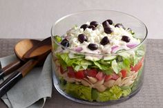 Layered Greek Salad for a Crowd recipe