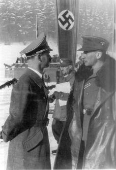 Reinhard Heydrich at a winter resort for SS men