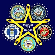 Support Our Soldiers - army, navy, marines, coast guard