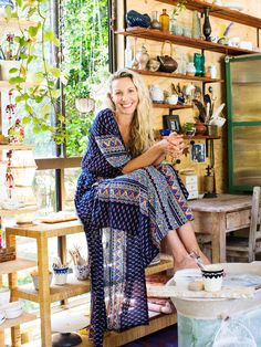 Eve Simmons of Liquorice Moon Studios in her home studio, in the Sunshine Coast hinterland, Australia.