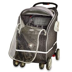 Warm As A Lamb™ Winter Stroller Coat ™ Cover in Black by T & C Innovators, Inc