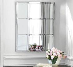 "Eagan Multipanel Small Mirror,28 x 33"", Silver Finish At Pottery Barn - Decor & Pillows - Wall Mirrors"