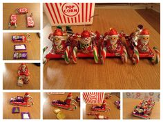 Christmas candy-cane chocolate Santa sleigh