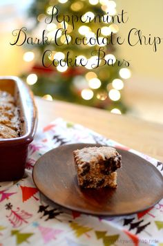 Peppermint Dark Chocolate Chip Cookie Bars