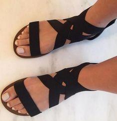 Femmes Summer Tassel Plat Spartiates Bohemian Summer Rome Chaussures US4-10
