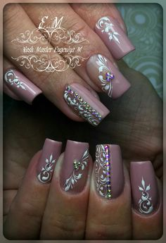 Best 12 Women's Day Nail Art Designs 2019 Lace Nail Design, Nail Art Design 2017, 3d Nail Designs, Elegant Nail Designs, Colorful Nail Designs, Acrylic Nail Designs, Henna Nails, Lace Nails, Flower Nails