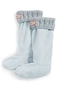 NATURAL WHITE (size medium) Hunter Original Tall Cable Knit Cuff Welly Socks (Women) available at #Nordstrom
