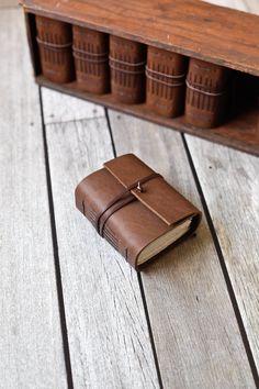 Rustic Leather Journal Box Set Matching by wayfaringart on Etsy