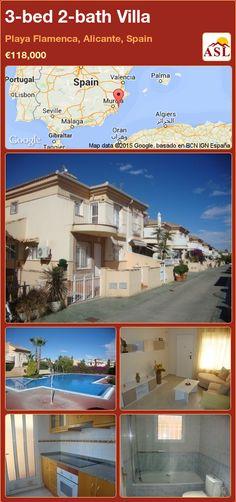 3-bed 2-bath Villa in Playa Flamenca, Alicante, Spain ►€118,000 #PropertyForSaleInSpain