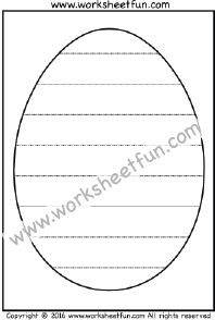 Easter Eggs – Straight Line Tracing – One Worksheet