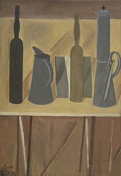 Giorgio Morandi, Still Life, 1916 oil on canvas x cm, Museum of Modern art, New york Painting Still Life, Paintings I Love, Rome Painting, Painting Art, Italian Painters, Italian Artist, Simple Subject, Museum Of Modern Art, Art Google