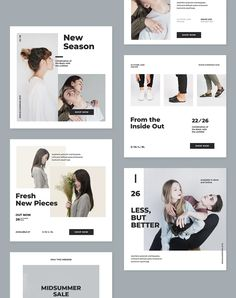 **Social Media Kit** 6 different design and square layouts. Social Media Detox, Social Media Ad, Social Media Banner, Social Media Branding, Social Media Template, Social Media Design, Social Media Marketing, Facebook Marketing, Instagram Design