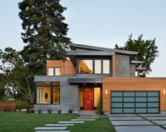 West Coast Contemporary Front Exterior Home Design Ideas, Pictures ...