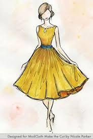 Resultado de imagen para aprender a dibujar vestidos  de moda  con flores
