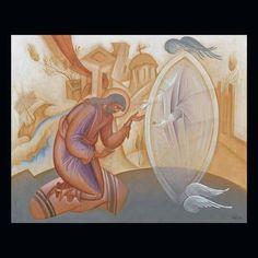 Greece -by George Kordis ~~~.the Vision of saint John Koukouzelis. Egg Tempera on Wood. Transfiguration Of Jesus, Christmas Icons, Byzantine Icons, Ad Art, Orthodox Icons, Visionary Art, Sacred Art, Art Club, Religious Art
