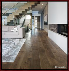 Engineered hardwood, long planks is a design feature many are looking for in hardwood to emphasize a larger open space.