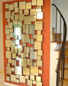 Feature wall in a very simple entrance hall.