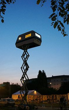 Camper on hydraulics is cooler than any treehouse! #outdoor #gadgets