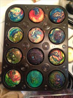 Galaxy Rainbow Swirl Cupcake Love it! @Renee Peterson Peterson Castagno