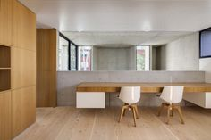 Glebe House By Nobbs Radford Architects, Sydney Wooden Staircase Design, Wooden Staircases, Cabinet D Architecture, Interior Architecture, Interior Design, Concrete Architecture, Residential Architecture, Timber Frame Homes, Victorian Homes