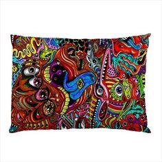 DMT-Dark-Psychedelic-Hallucinogen-lsd-acid-hipie-Design-1-side-Print-Pillow-Case